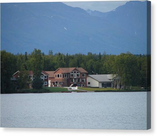 Sarah Palin Canvas Print - Sarah Palin's House by Lew Davis