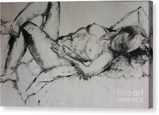 Sarah Sleeping Canvas Print