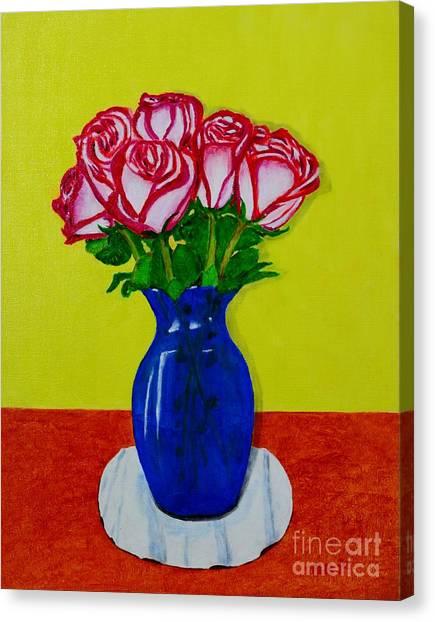 Sara's Roses Canvas Print