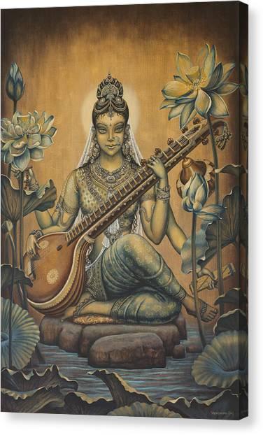 Sarasvati Shakti Canvas Print
