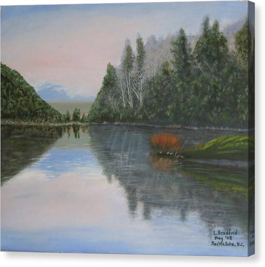 Sarita Lake On Vancouver Island Canvas Print