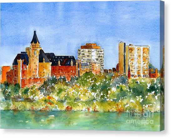 Burnt Canvas Print - Saskatoon Panorama by Pat Katz