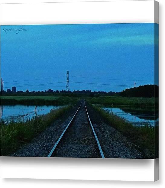 Saskatchewan Canvas Print - Saskatoon's Evening Landscape by Ren Brooks