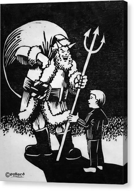 Satan Santa Canvas Print