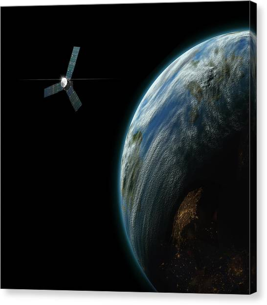 Satellite Planet No.2 Canvas Print