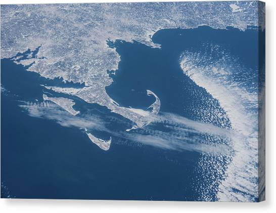 Marthas Vineyard Canvas Print - Satellite View Of Cape Cod Area by Panoramic Images