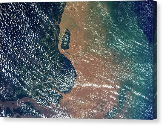 Amazon River Canvas Print - Satellite View Of Coastal Area Of Amapa by Panoramic Images