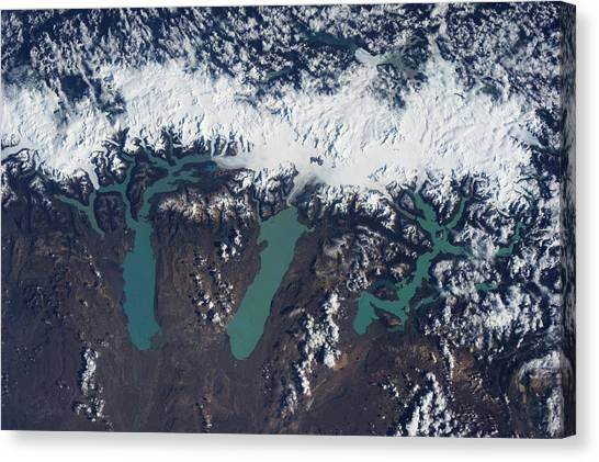 Perito Moreno Glacier Canvas Print - Satellite View Of Glaciers by Panoramic Images