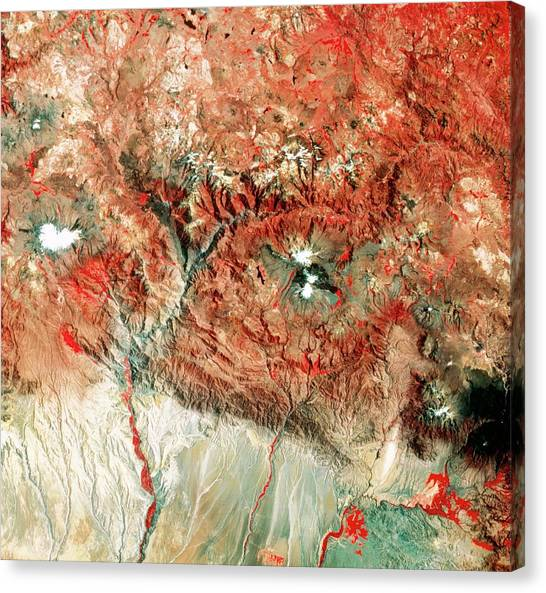 Amazon River Canvas Print - Satellite View Of The Source Of The Amazon by Mda Information Systems/science Photo Library