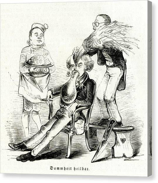 Stuffing Canvas Print - Satireresults Of Ether - Surgery by Mary Evans Picture Library