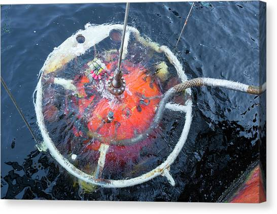 Diving Bell Canvas Print - Saturation Dive Training by Louise Murray