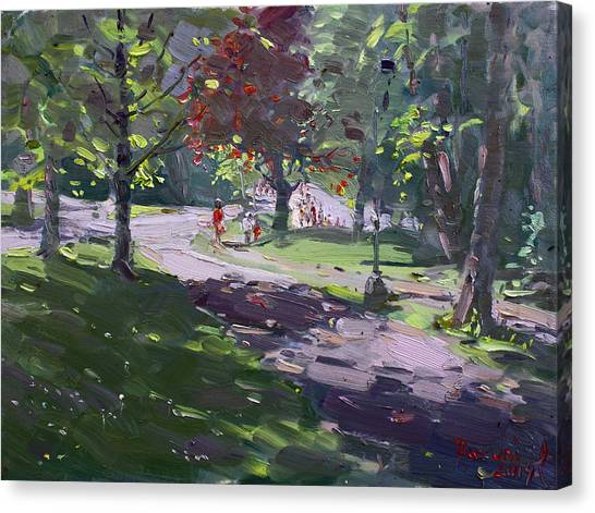Goats Canvas Print - Saturday In The Park by Ylli Haruni
