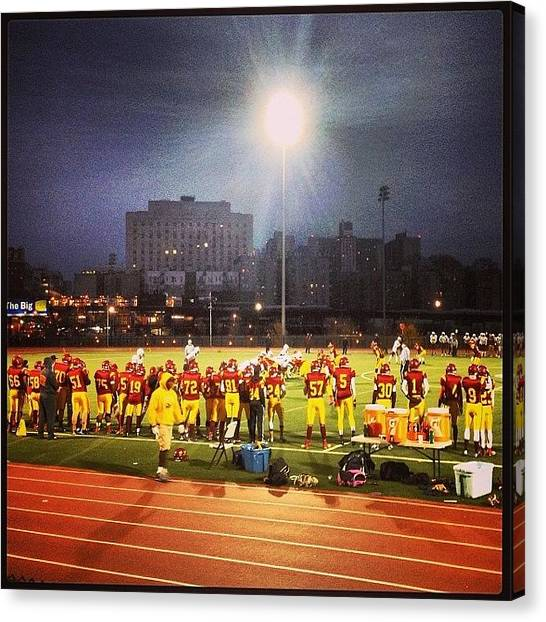 High School Canvas Print - Saturday Night Lights In The Bronx by Daniel Rivera