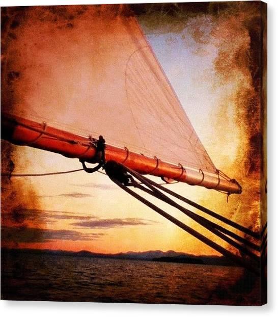 Lake Sunsets Canvas Print - Saturday Night's #sunset #cruise On by Melissa Yosua-Davis