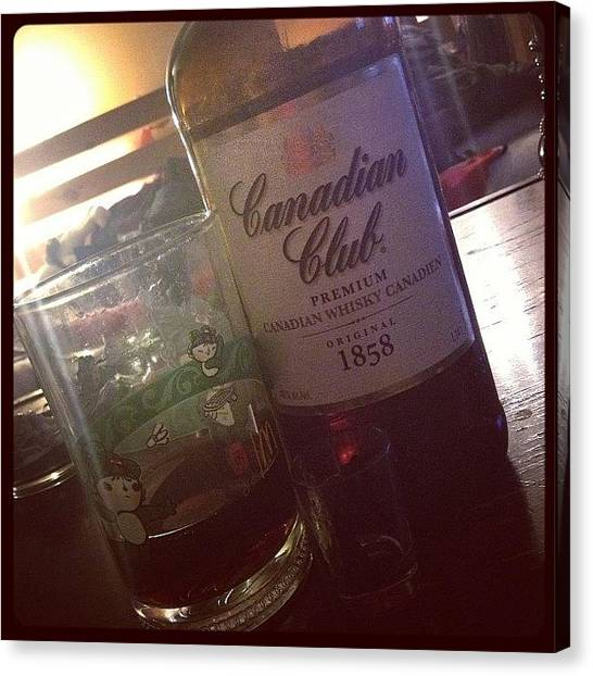 Pepsi Canvas Print - #saturdaynight #whiskey #canadianclub by Katrina A