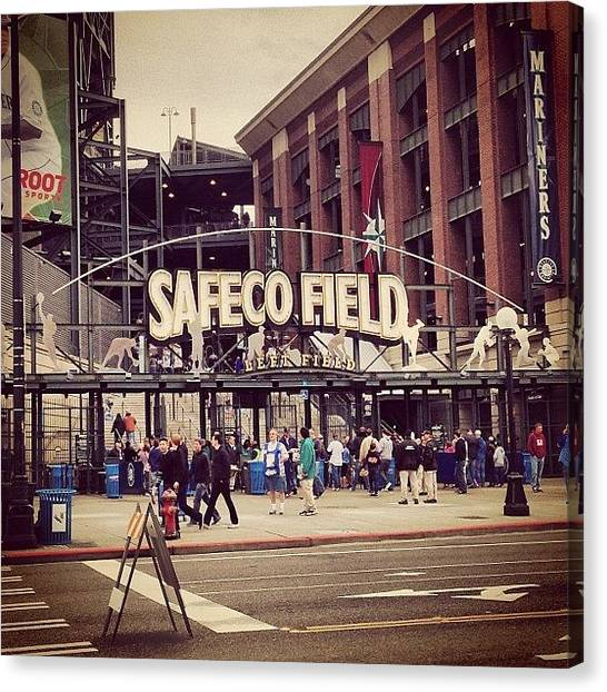 Seattle Mariners Canvas Print - Saturdays Were Made For A Day At The by James Higuera