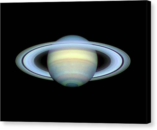 Saturn Canvas Print - Saturn And Its Rings by Damian Peach