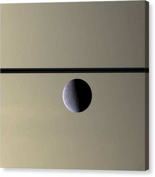 Saturn Canvas Print - Saturn Rhea Contemporary Abstract by Adam Romanowicz