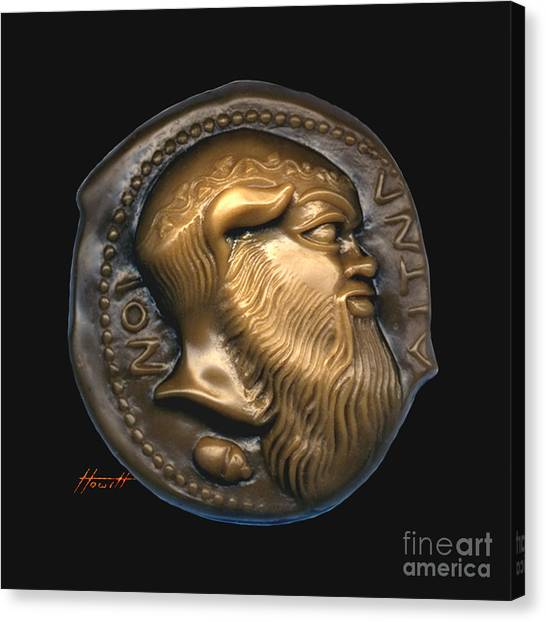 Satyr Or Silenos Canvas Print by Patricia Howitt
