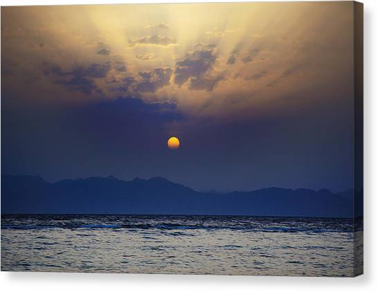 Saudi Sunrise Canvas Print