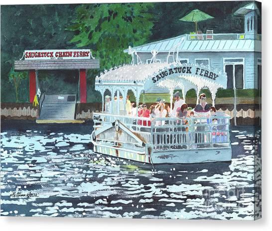 Saugatuck Chain Ferry Canvas Print