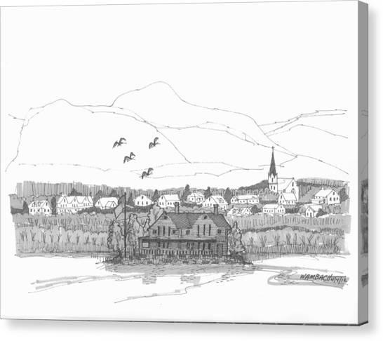 Saugerties From Tivoli Canvas Print