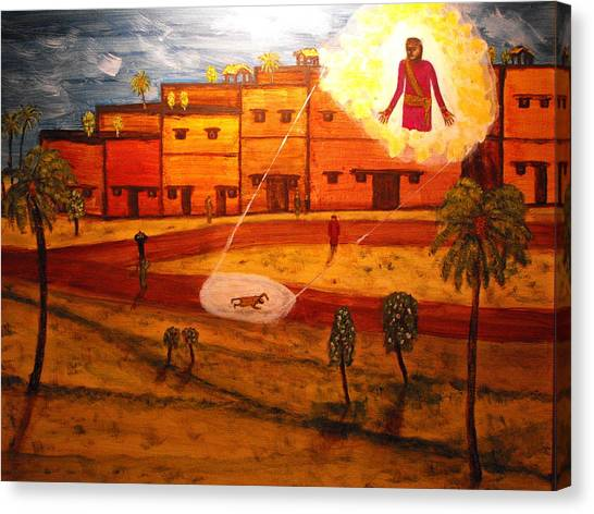 Saul On The Damascus Road Canvas Print