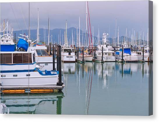 Sausalito Harbor California Canvas Print
