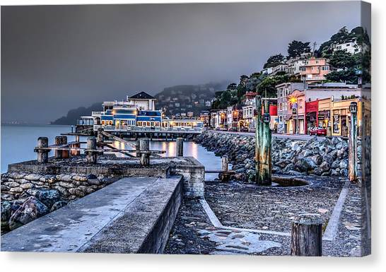 Sausalito Waterfront 3 Canvas Print