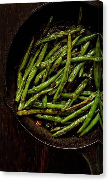 Sauteed String Beans Canvas Print by Joseph Clark