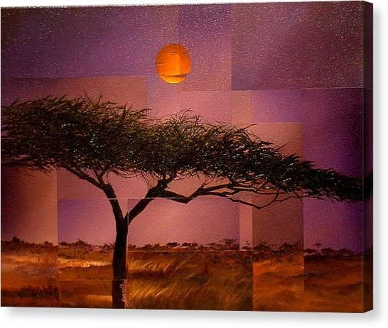 Savane Canvas Print by Laurend Doumba