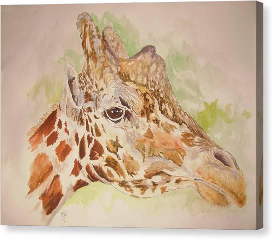 Savanna Giraffe Canvas Print