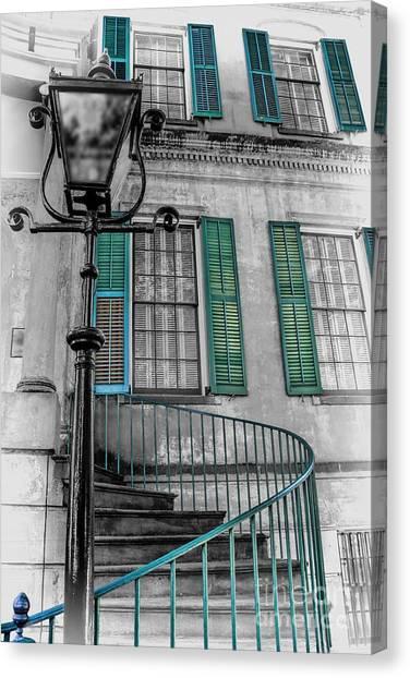Savannah Green House Canvas Print