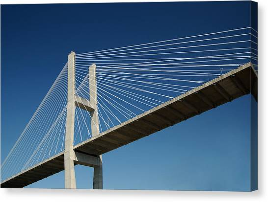 Savannah River Bridge Georgia Usa Canvas Print