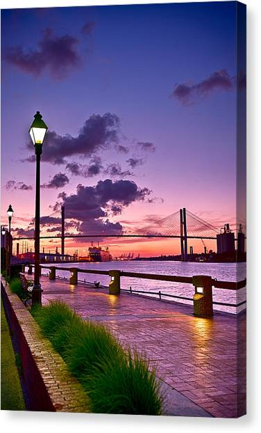 Savannah River Bridge Canvas Print