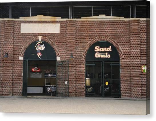 Savannah Sand Gnats At Grayson Stadium Canvas Print