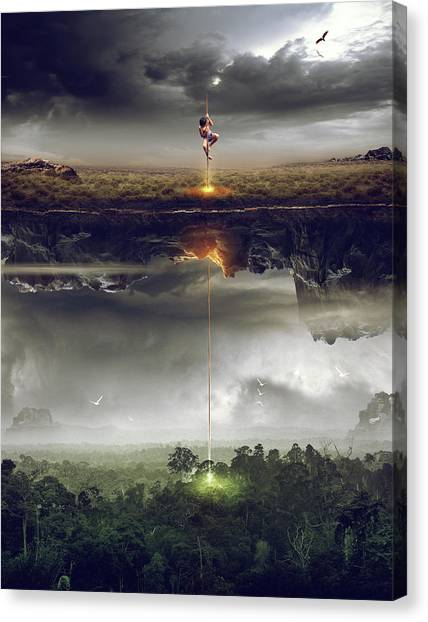 Imaginative Canvas Print - Save The World by Mas Heri