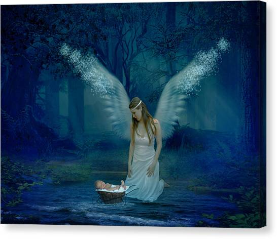 Saved By An Angel Canvas Print