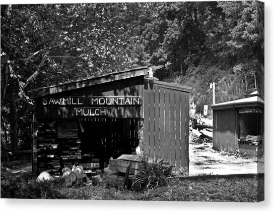 Sawmill In Black And  White Canvas Print by John Holloway