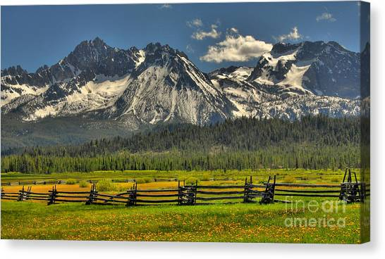 Sawtooth Mountains Canvas Print