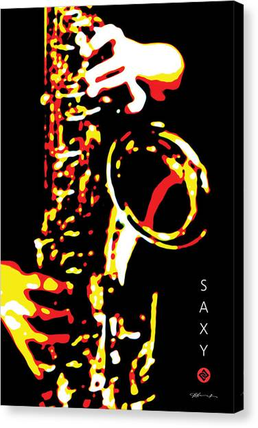 Saxy Black Poster Canvas Print