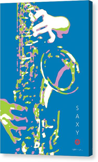 Saxy Blue Poster Canvas Print