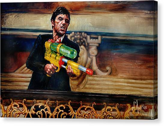 Scarface Canvas Print - Say Hello by Tom Dauria