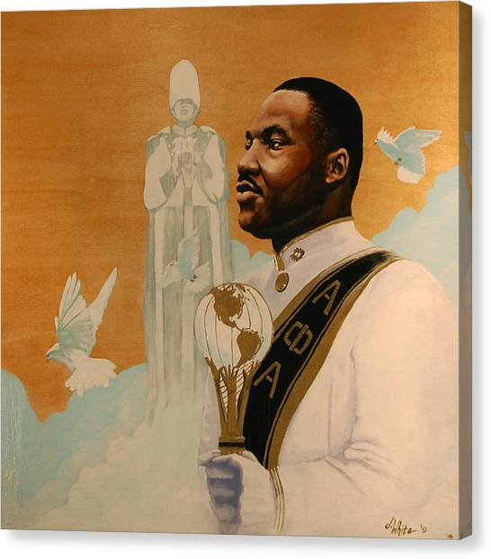 Alpha Phi Canvas Print - Say I Was A Drum Major by Jerome White