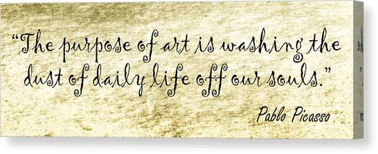 Pablo Picasso Canvas Print - Say It Again by Joan Carroll