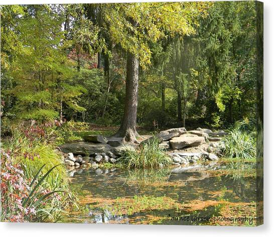 Sayen Gardens Pond Canvas Print
