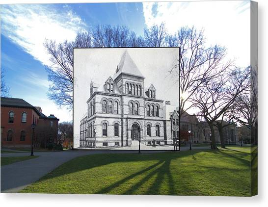 Brown University Canvas Print - Sayles Hall At Brown University In Providence Rhode Island by Jeff Hayden