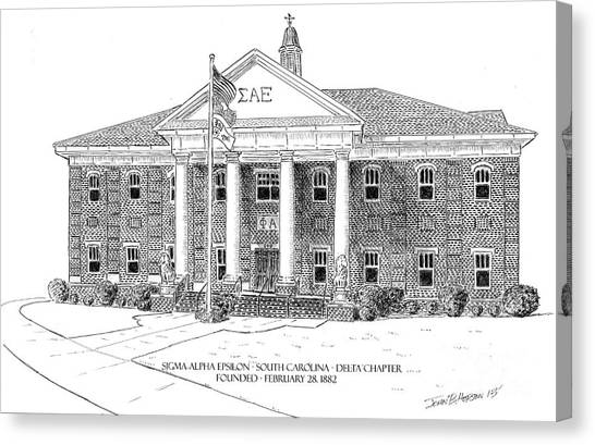 Sigma Alpha Epsilon Canvas Print - Sc Delta Chapter Sae by John Hopson