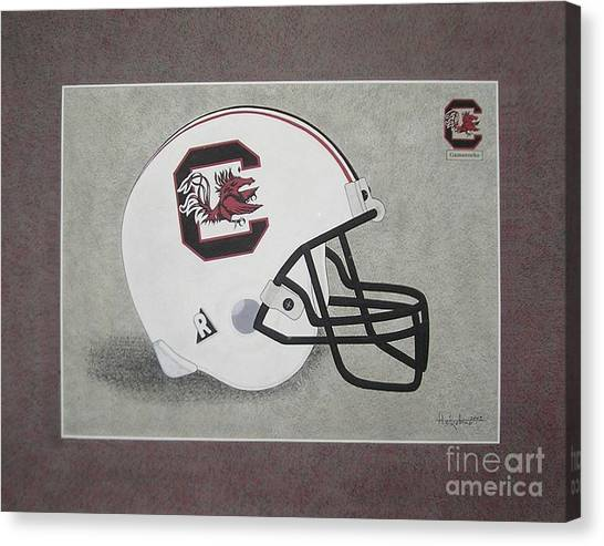 S.c. Gamecocks T-shirt Canvas Print
