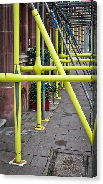 Health Insurance Canvas Print - Scaffolding Coating by Tom Gowanlock
